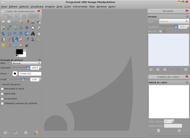Noul GIMP 2.6, asa cum arata la mine.