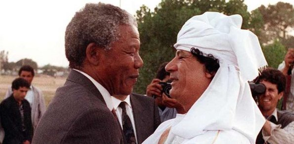 Mandela și Gaddafi